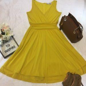 Newport News Dress Size 10 Women, EUC, Yellow